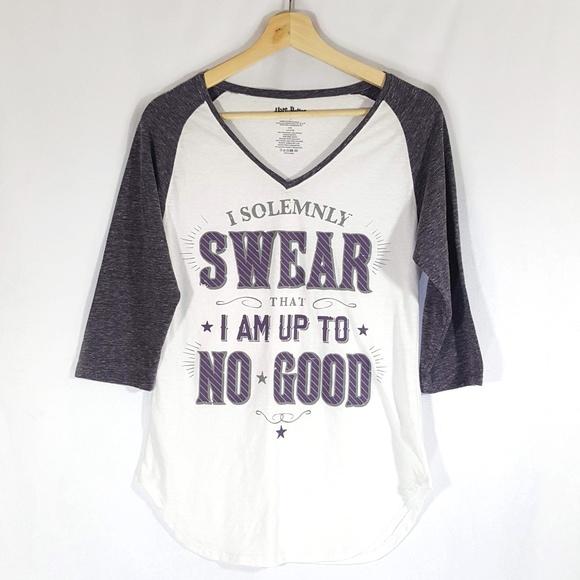 396388e3e3 Warner Bros. Shirts & Tops   Harry Potter Raglan Shirt Solemnly ...